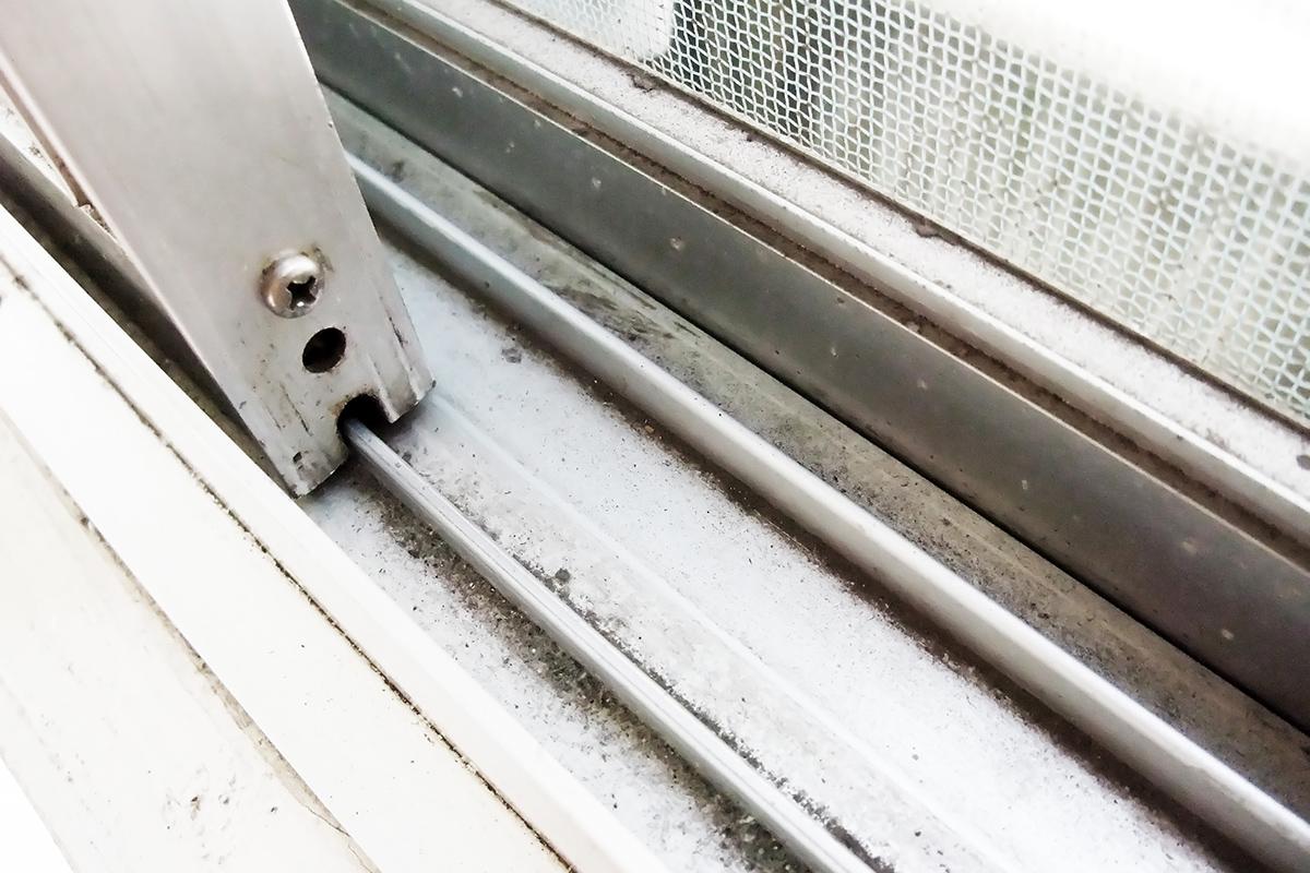 網戸・サッシ:お家の中で花粉や黄砂の多い場所