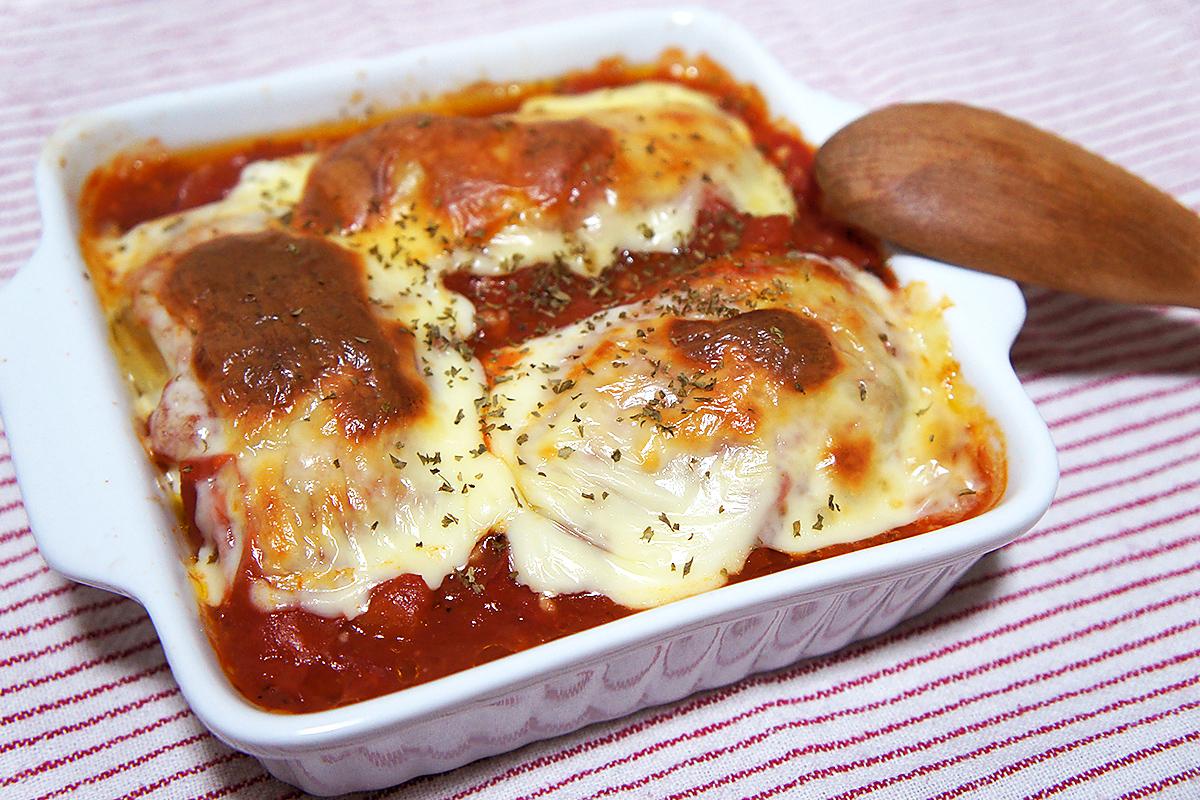チーズに焼き目がついたら、パセリを散らして完成